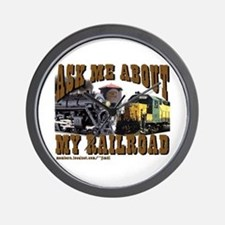 trains -Wall Clock - Ask Me about My RR