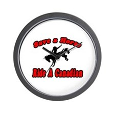"""""""Save Horse, Ride Canadian"""" Wall Clock"""