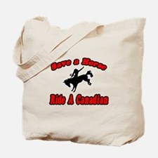 """""""Save Horse, Ride Canadian"""" Tote Bag"""