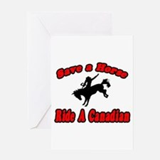 """Save Horse, Ride Canadian"" Greeting Card"
