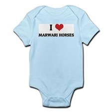 I Love Marwari Horses Infant Creeper