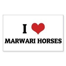 I Love Marwari Horses Rectangle Decal