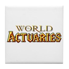 World of Actuaries Tile Coaster