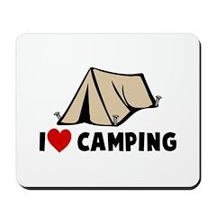 I Heart Camping Mousepad