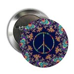 "Psychedelic Peace Sign 2.25"" Button"