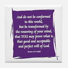 Renew Your Mind Tile Coaster