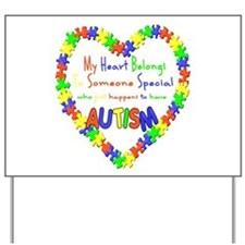 Autism Heart Yard Sign