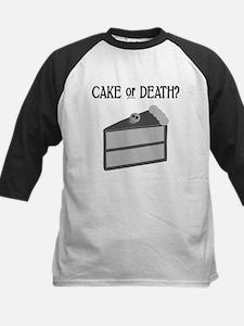 Cake or Death Kids Baseball Jersey
