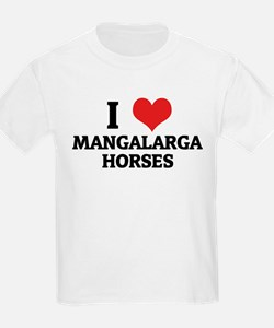 I Love Mangalarga Horses Kids T-Shirt