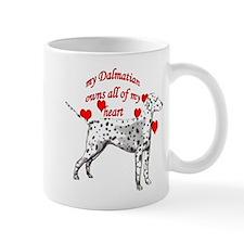 Dalmatian heart Mug