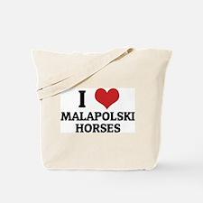 I Love Malapolski Horses Tote Bag