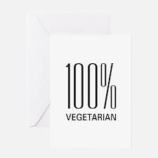 100% Vegetarian Greeting Card