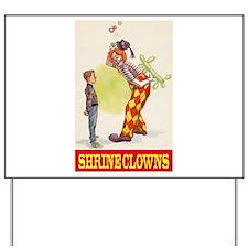 Shrine Clowns Yard Sign