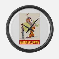 Shrine Clowns Large Wall Clock
