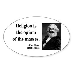 Karl Marx 1 Oval Decal