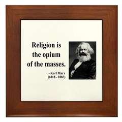 Karl Marx 1 Framed Tile
