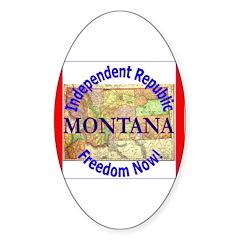 Montana-3 Oval Decal