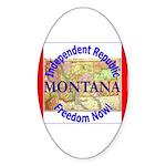 Montana-3 Oval Sticker
