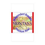 Montana-3 Rectangle Sticker 50 pk)