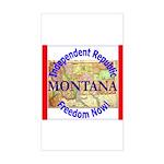Montana-3 Rectangle Sticker