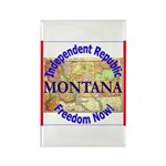 Montana-3 Rectangle Magnet