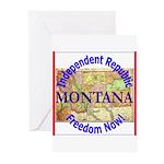 Montana-3 Greeting Cards (Pk of 20)