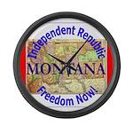 Montana-3 Large Wall Clock