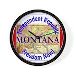 Montana-3 Wall Clock
