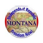 Montana-3 Ornament (Round)
