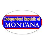 Montana-2 Oval Sticker (50 pk)