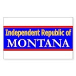 Montana-2 Rectangle Sticker 50 pk)