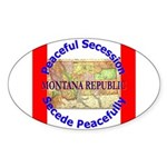 Montana-1 Oval Sticker (50 pk)