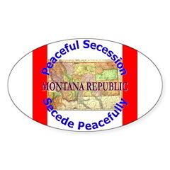 Montana-1 Oval Sticker (10 pk)