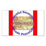 Montana-1 Rectangle Sticker