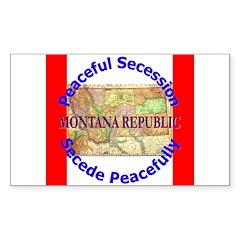 Montana-1 Rectangle Decal
