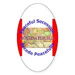 Montana-1 Oval Sticker