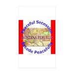 Montana-1 Rectangle Sticker 50 pk)