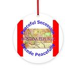 Montana-1 Ornament (Round)