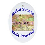 Montana-1 Oval Ornament