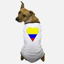 Colombia Heart-Shaped Flag Dog T-Shirt