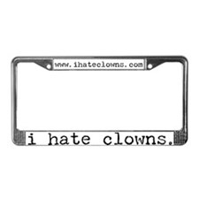 i hate clowns License Plate Frame