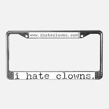 i hate clowns License Plate Frame