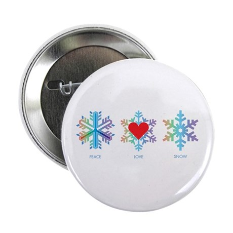 "Peace Love Snow 2.25"" Button (100 pack)"