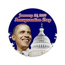 "Obama inauguration 3.5"" Button"