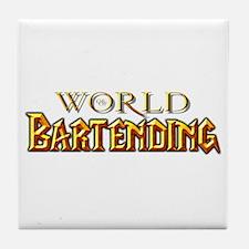 World of Bartending Tile Coaster