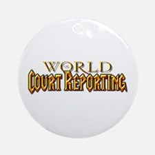 World of Court Reporting Ornament (Round)