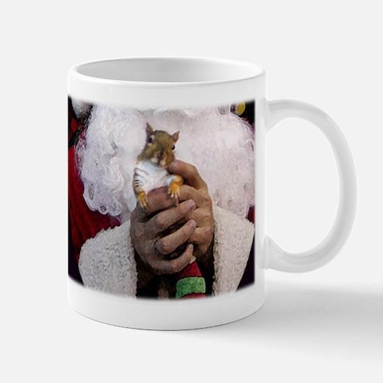 Christmas Squirrel with Santa