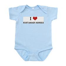 I Love Kustanair Horses Infant Creeper