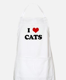 I Love CATS BBQ Apron