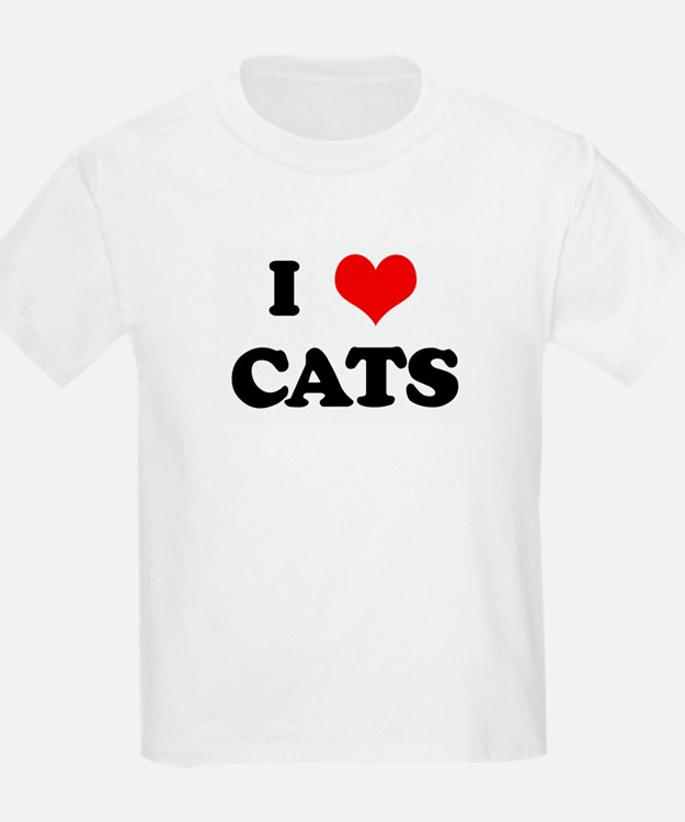 I Love CATS T-Shirt
